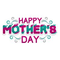 Happy Mother's Day Typography Card vektor