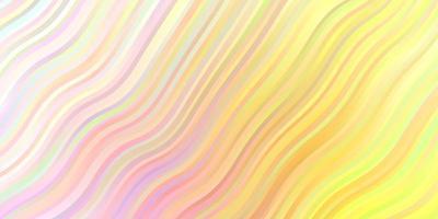 hellrosa, gelber Vektorhintergrund mit Kurven. vektor
