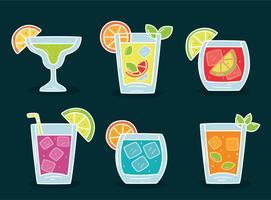 Cocktail-Sammlung-Vektor