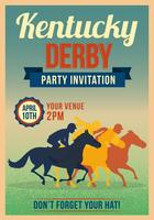 Kentucky Derby Party Einladung Vorlage vektor