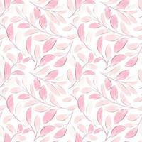 nahtloses Blumenmuster mit Aquarellstil vektor