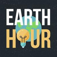 earth hour banner vektor
