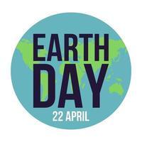 Happy Earth Day Schriftzug vektor