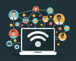 sociala nätverk media platt design vektor