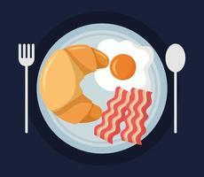söt frukost ovanifrån vektor