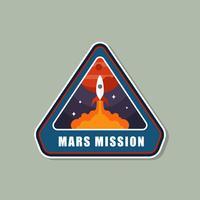 Uppdrag till Mars Patch Vector