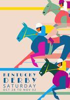 kentucky derby partiinbjudan illustration vektor