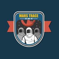 Mission zum Mars-Flecken-Vektor vektor