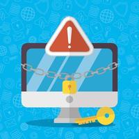 Technologie Internet Sicherheit flaches Design