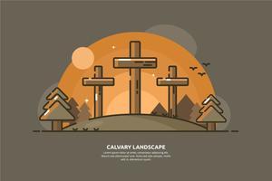 Golgata landskaps illustration vektor