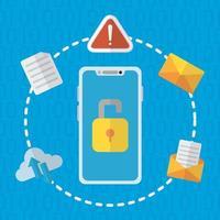 Technologie Internet Sicherheit flaches Design vektor