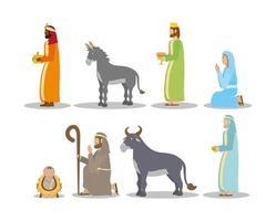 Offenbarung von Jesus Icon Set