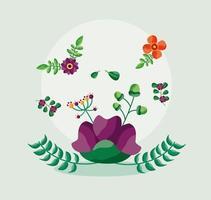 Speichern Sie das Datum Blumenhochzeitskarte vektor