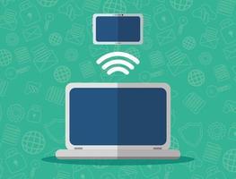 teknik internetanslutning och dataöverföring vektor