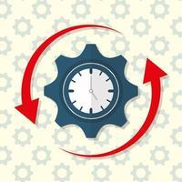 affärsframgång produktivitetsdesignbild vektor