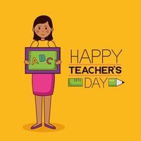 lärarens dag firande design