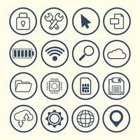 platt design prylar och teknik ikoner vektor