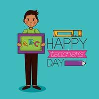 glückliches Lehrertag-Feierdesign vektor