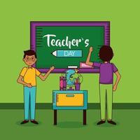 glad lärares dag firande design vektor
