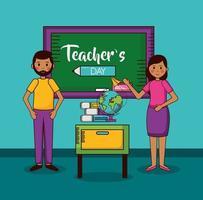 glad lärares dag firande design