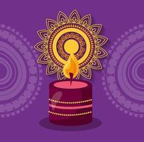 glückliches diwali Festivalplakat flaches Design