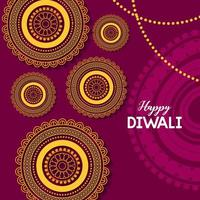 glad diwali festival affisch platt design