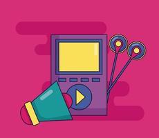 Musik-Player und Megaphon vektor