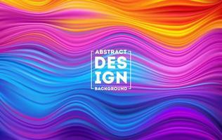 våg flytande form färg bakgrund vektor