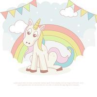 tecknad unicorn vektor