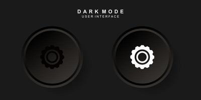 einfache kreative Einstellung Benutzeroberfläche im Neumorphismus-Design. einfach, modern und minimalistisch.
