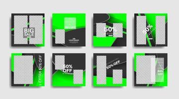 moderne quadratisch bearbeitete Werbebanner für Social-Media-Beiträge. Vektor-Design-Illustration vektor