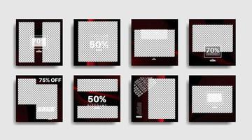 modernes Werbequadrat-Webbanner für soziale Medien