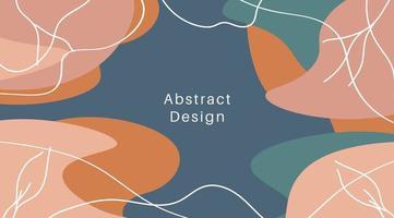 enkel abstrakt bakgrund i pastellfärg med ränder. handritad doodle former och vågor. sociala medier mall, modern trendig linje vektorillustration. naturlig stil affärsskönhetsmall.