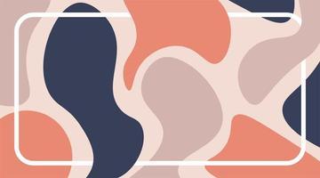 pastellfarbene abstrakte flüssige Formen wiederholen Muster. Vektordesign