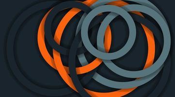 Vektorhintergrund mit gestapelten Kreislinien. Design Illustration vektor