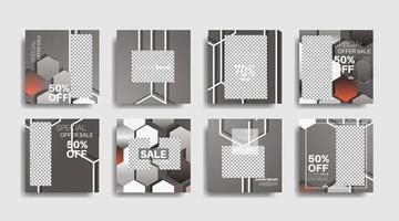 modernes Werbequadrat-Webbanner für soziale Medien. Vektor-Design-Illustration