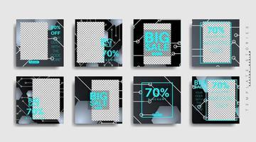 modern marknadsföring fyrkantig webbbanner för sociala medier. vektor design illustration