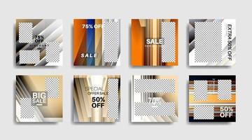 modernes Werbequadrat-Webbanner für soziale Medien. Vektordesign