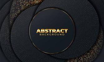 abstrakter Hintergrund mit geometrischen Formen. schwarzer abstrakter Hintergrund mit geometrischen Papierformen. Vektorillustration