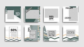 geometrische Form Banner Vorlage, die für Social Media Beiträge bearbeitet werden kann. Vektordesign