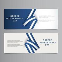 glückliche Griechenland Unabhängigkeitstag Feier Vektor Vorlage Design Illustration