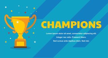 Champions Banner Vorlage vektor