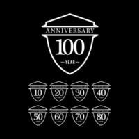 100 Jahre Jubiläumsfeier Nummer Text Vektor Vorlage Design Illustration