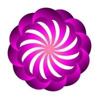 Blumensymbolvektorentwurf mit lila Farben vektor
