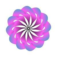 Blumensymbolvektorentwurf in den Pastellfarben. rosa Blumenvektorlogo vektor