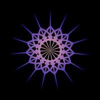 abstraktes Design des Mandala-Ornaments in lila Farbe