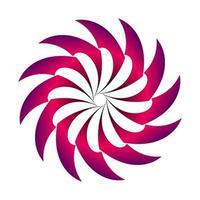 abstrakter Kreis gezackter Übergang in lila Farbe vektor