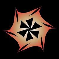 kreatives kreisförmiges Übergangssymbol, eingewickelt in orange Farbe
