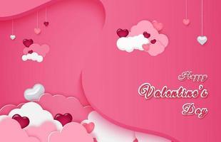 realistischer saisonaler Hintergrund für Valentinstag.