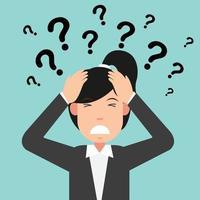 Geschäftsdenken mit Fragezeichen vektor
